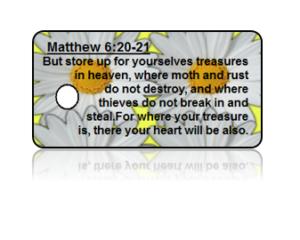 Matthew 6:20-21 Holiday Scripture Key Tags