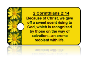 2 Corinthians 2:14 Holiday Scripture Key Tags