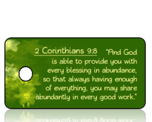 2 Corinthians 9 vs 8 - Daffodils Green Background