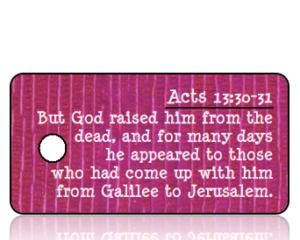 Acts 13 vs 30-31 - Purple Mauve Textured Background