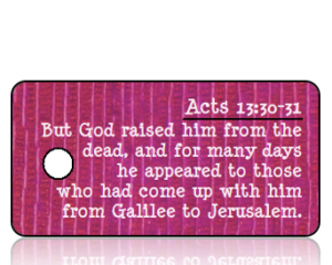 Acts 13 vs 30-31 - Purple Mauve Textured Background