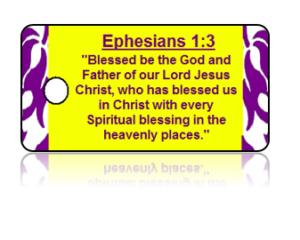 Ephesians 1:3 Holiday Scripture Key Tags