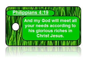 Philippians 4:19 Holiday Scripture Key Tags