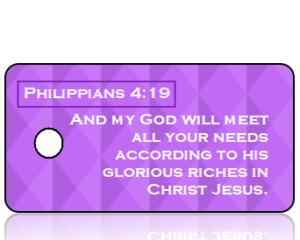 Philippians 4 vs 19 - Purple Diamonds