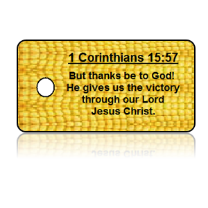 1 Corinthians 15:57 Holiday Scripture Key Tags