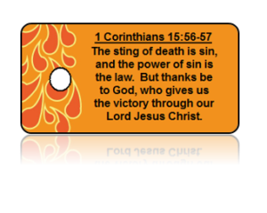 1 Corinthians 16:56-57 Holiday Scripture Key Tags