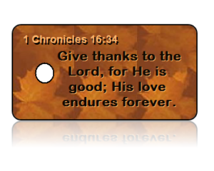 1 Chronicles 16:34 Give Thanks Key Tags