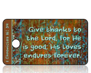 1 Chronicles 16:34 Give Thanks Key Tag (NIV)