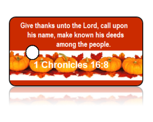 1 Chronicles 16:8 Holiday Scripture Key Tags