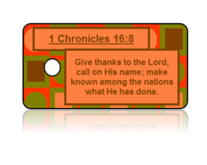 1 Chronicles 16:8 Holiday Scripture Modern Key Tags
