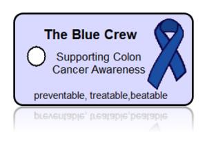 Blue Crew Colon Cancer Awareness Key Tags