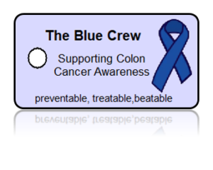 Blue Crew Colon Cancer Awareness Key Tags