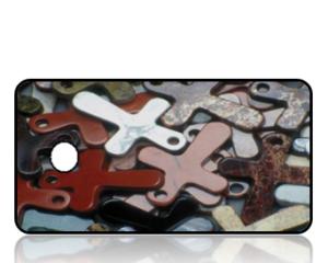 Create Design Key Tags Multi Color Crosses