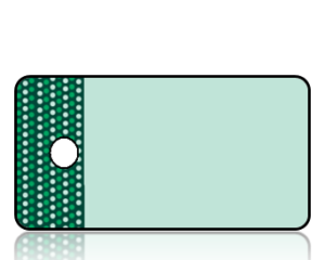 Create Design Key Tags Mint Green Green Dot Border