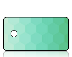 Create Design Key Tags Green Hexagon Pattern