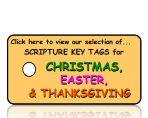 Holiday Bible Scripture Key Tags