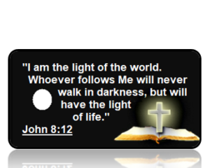 John 8:12 Bible Scripture Key Tags