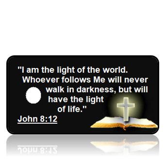John 8:12 Bible Scripture Key Tags