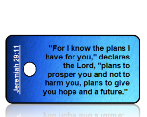 Jeremiah 29:11 Bible Scripture Key Tag
