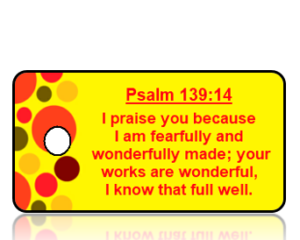Psalm 139:14 Bible Scripture Key Tags NIV