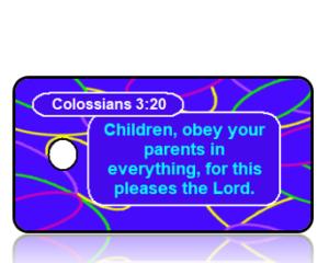 Colossians 3:20 Bible Scripture Key Tags NIV