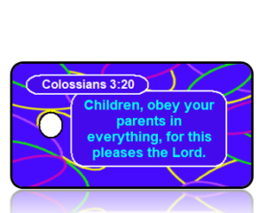 Colossians 3:20 Bible Scripture Key Tags NIV