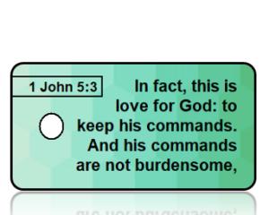 1 John 5:3 Bible Scripture Key Tags
