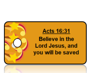 Acts 16:31 Bible Scripture Key Tag