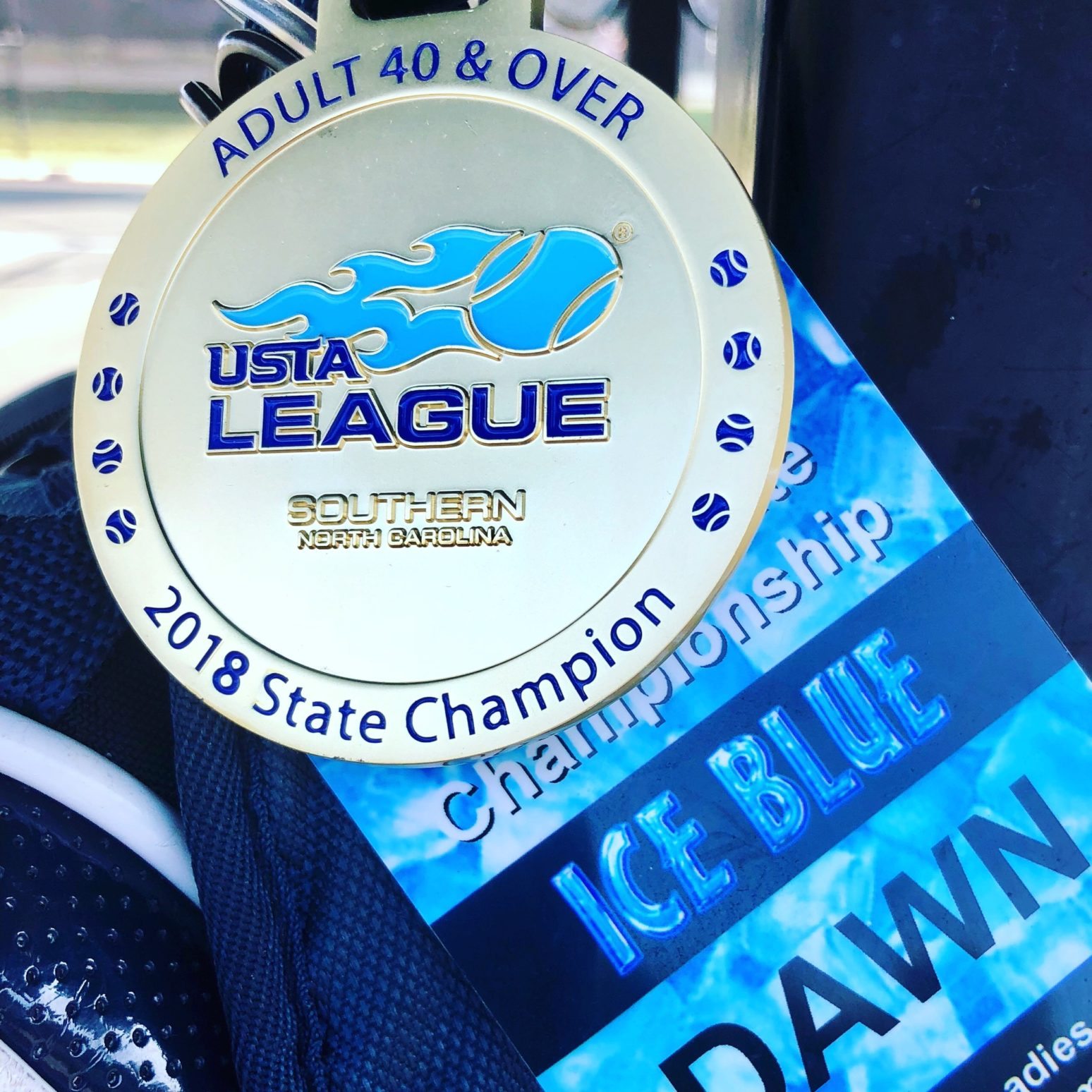 ICE BLUE Bag Tag Tennis State Championship