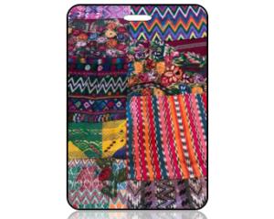 Create Design Bag Tag Colorful Quilt