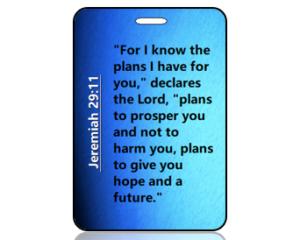 Jeremiah 29:11 Bible Scripture Bag Tag