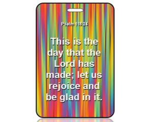 Psalm 118:24 Bible Scripture Bag Tag