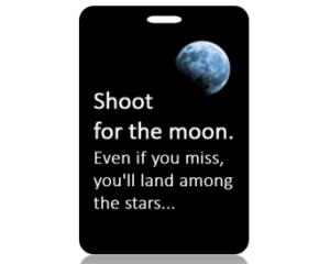 Shoot for the Moon Bag Tags