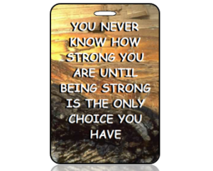 Be Strong Bag Tags