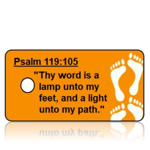 Psalm 119:105 Bible Scripture Key Tags
