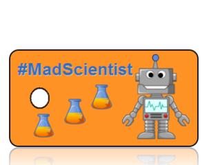 Mad Scientist Hashtag Key Tags