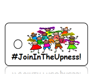 Join In the Upness Hashtag Key Tag