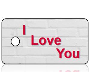 I Love You Key Tag