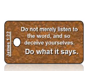 James 1:22 Bible Scripture Key Tags