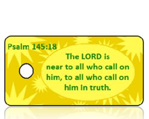 Psalm 145:18 Bible Scripture Key Tags
