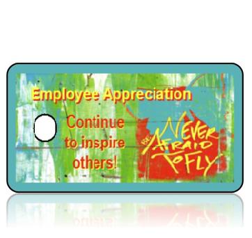 Appreciation13 - Employee Appreciation - Teal Graphic Butterfly