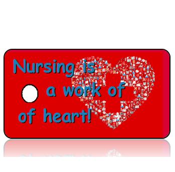 Appreciation14 - Nursing is a Work of Heart Key Tags