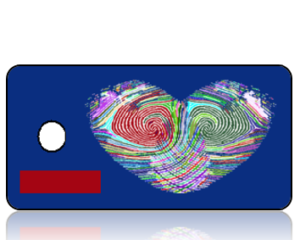 Create Design Key Tag Multi Color Fingerprint Heart