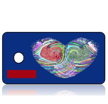 ScriptureTagBlankT10 - BuildIT - Multi Color Fingerprint Heart