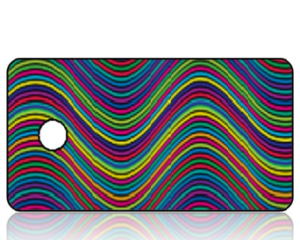 Create Design Key Tag Colorful Modern Waves