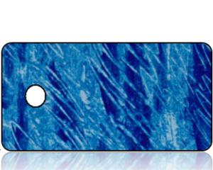 Create Design Key Tag Blue Scratch