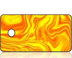 Create Design Key Tag Orange Yellow Marble
