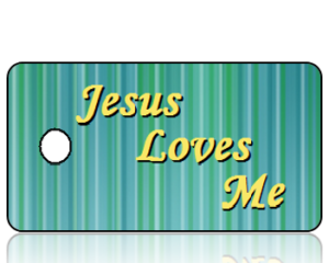 Jesus Loves Me Key Tags