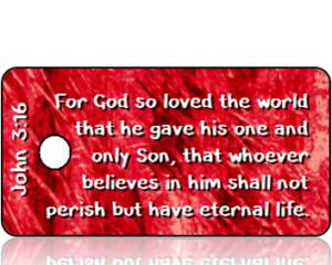 John 3:16 Bible Scripture Tags