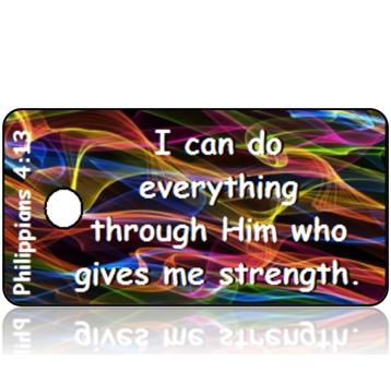 ScriptureTagD119 - NIV - Philippians 4 vs 13 - Colorful Sound Waves